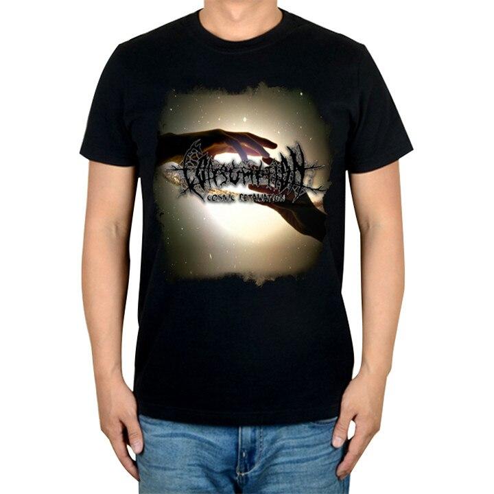 2 дизайна Harajuku рука в руку потребление рок брендовая футболка хлопок панк фитнес тяжелый рок тяжелый thrash Металл черные рубашки - Цвет: 2