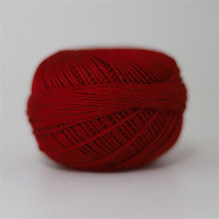 Размер 3 хлопковая Жемчужная Нить египетская длинная Штапельная хлопковая пряжа газированная двойная мерсеризованная 6 нитей плетение 50 грамм на шарик - Цвет: 671