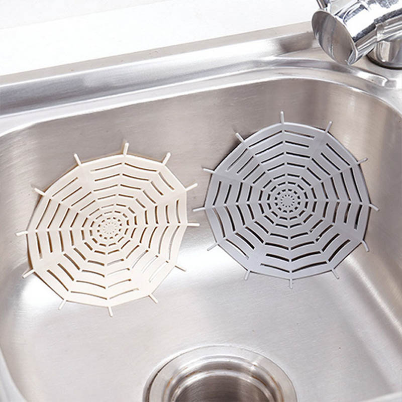 1Pcs Bathroom Shower Accessories Basin Filters Portable Spider Web Floor Drain Hair Stopper Sink Strainer Kitchen Drainer Filter