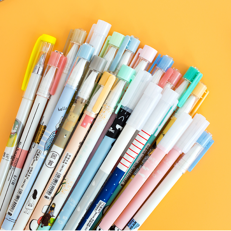 Image 3 - 50 pcs/Lot Kawaii gel pens 10 color ink ballpoint pen Ballpoint 0.38mm 0.5mm Stationery Office School supply lapices escolar-in Gel Pens from Office & School Supplies
