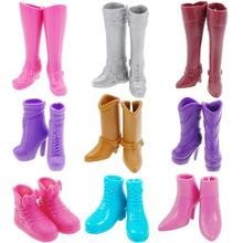 1 Pair Winter Fashion Casual High Heel Shoes Boots for Barbi