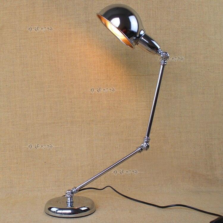 Ностальгический классический Железный Настольные лампы персонализированные ретро исследование промышленных спальня гостиная вилла castl г...