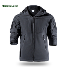 FREE SOLDIER Outdoor sports camping hiking tactical softshell jacket mens warm water resistant clothing large size