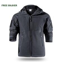 Ücretsiz asker açık spor kamp yürüyüş taktik softshell ceket erkek sıcak su dayanıklı giyim büyük boy
