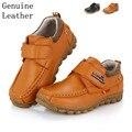 Super calidad 1 par zapatos de Cuero Genuino Niños Zapatillas Deportivas Baratas zapatos Del Muchacho, zapatos transpirables niño
