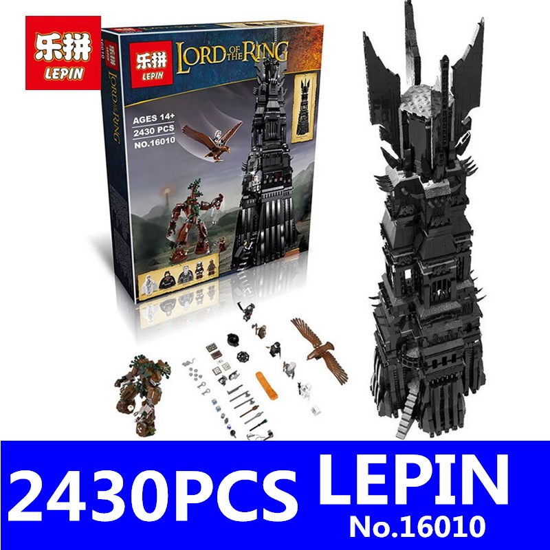 Lord of the Rings Lord of the Rings Model Set LEPIN 16010 2430Pcs Building Kits Model Toys for Children Compatible With 10237 lepin 16018 756pcs genuine the lord of rings series the ghost pirate ship set building block brick toys compatible legoed 79008