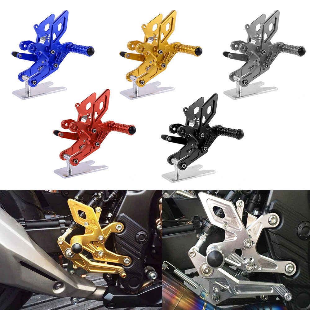 CBR 500R 500F Motorcycle Footrests Rearset Rear Footpeg Foot Rests CNC Aluminum For Honda CB500F CBR500R 2013 2014 2015 2016 in Foot Rests from Automobiles Motorcycles