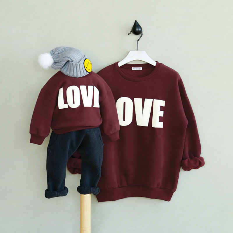 Family Look 2018 New Mother Father Baby Cotton Mommy and Me Clothes Family Clothing Letter Print Family Matching Outfits CC528