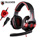 Sades sa903 SA-903 Gaming Headset 7.1 Surround USB Wired game Headphone with Mic Volume Control Noise Cancelling for pc gamer