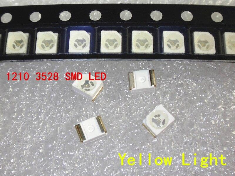 1000 шт. 3528 Желтый супер яркий светильник диод 1210 SMD СВЕТОДИОДНЫЙ