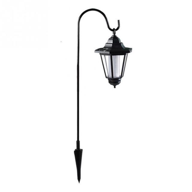 Hanging Solar Lawn Lamps Dual Use Shepherd Hook Lights Outdoor Coach Light 2v