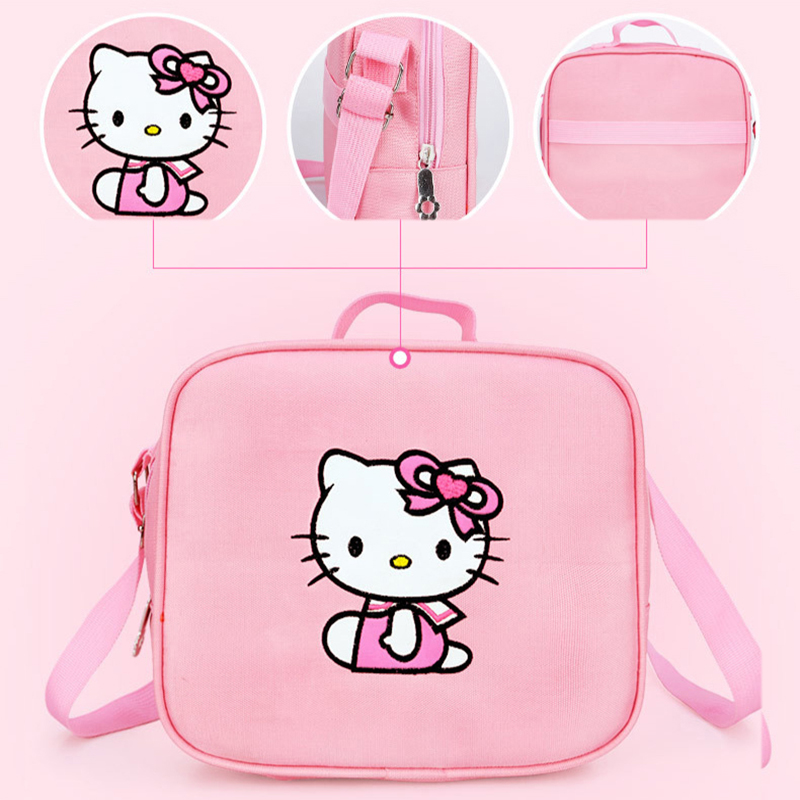 8d07fa63b2b3 3PCS New Girl s School Bags Cartoon Princess Cat Pussy Kitty Kid Backpack  Children School Backpack Primary Student Book Bag Pink-in School Bags from  Luggage ...