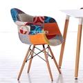 DC206 Holz Bein Freizeit Stuhl Modernen Minimalistischen Kreative Wohnzimmer Stuhl Einfache Kaffee Stuhl Sessel Haushalt Esszimmer Stuhl-in Bürostühle aus Möbel bei
