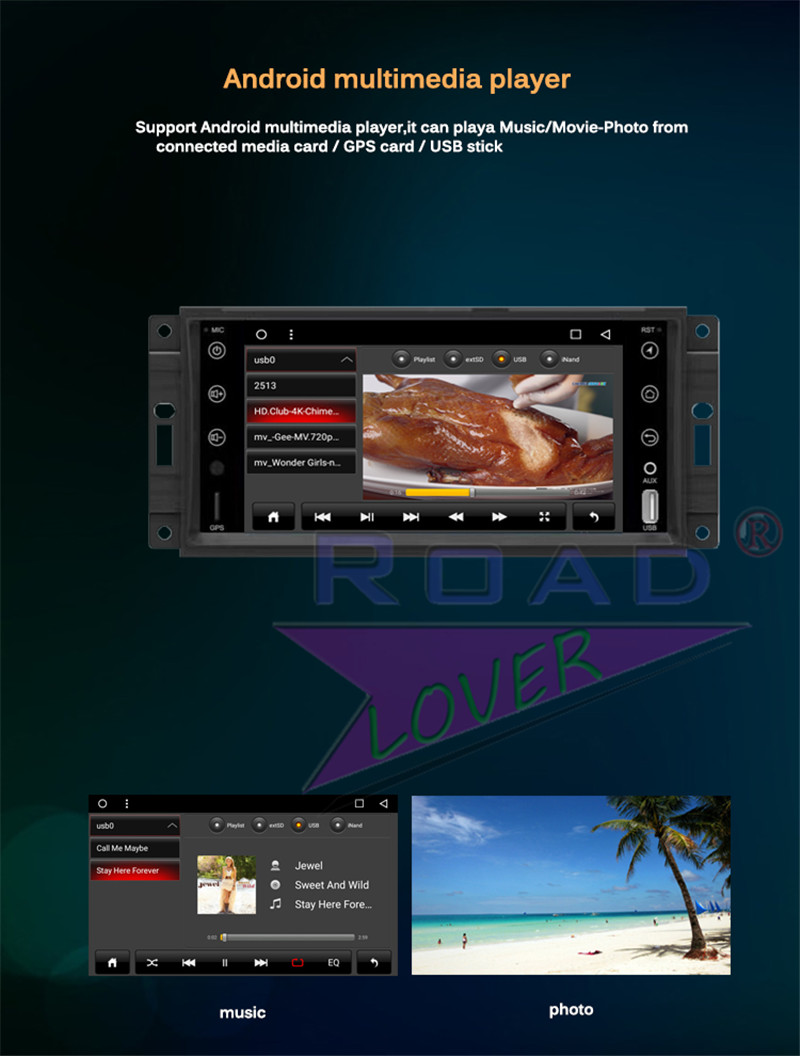 radio 2 din For Jeep Renegade