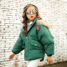 2017 winter fur hooded jackets for women boys heat coats & jackets youngsters's tops clothes snow put on children thick padded garments