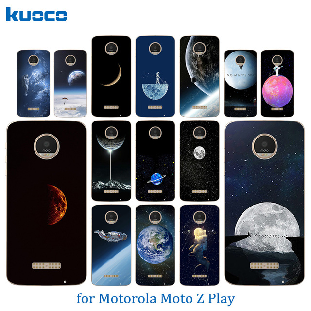 official photos 2751f 9e567 US $1.09 47% OFF|Phone Cases For Motorola Moto Z Play Space World Pattern  Transparent Shell for Moto X 4 XT 1635 03 XT1635 Mo Back Cover Capa-in ...