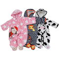 New Winter soft Rompers for baby girls boys, Warm Winter Rompers outwear, Fleece Rompers Boys Girls