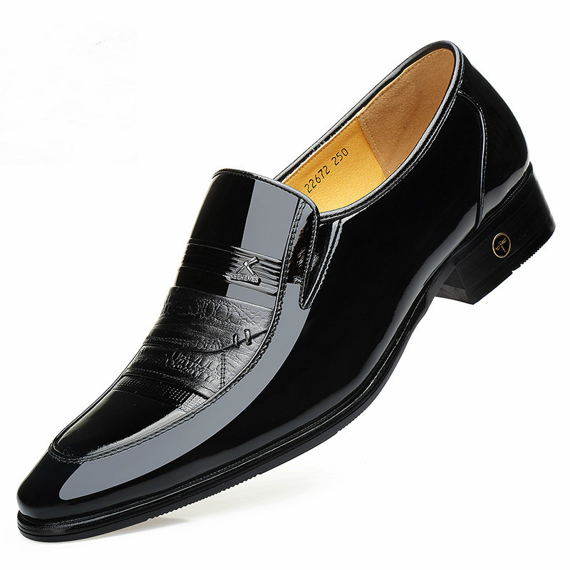 Buy 2019 New Spring and Autumn Men's Business Shoes British Youth Leather  Fashion  men dress Shoes big SIZE38-43 Yasilaiya for only 85.4 USD