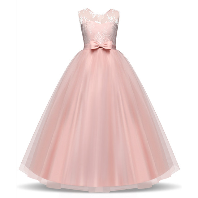 Online Shop Flower Baby Girl Dress Pink Prom gown Dresses For Girls ...