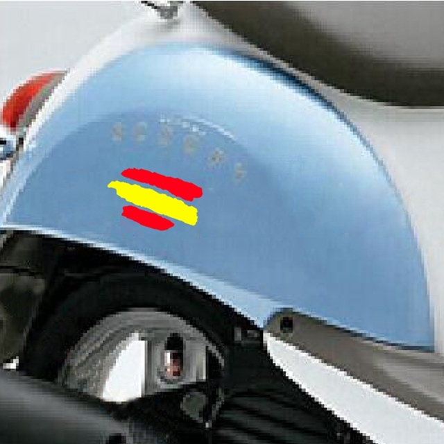 2x spanish flag sticker creative spain vinyl decal stickers for cars motorcycles bicycles