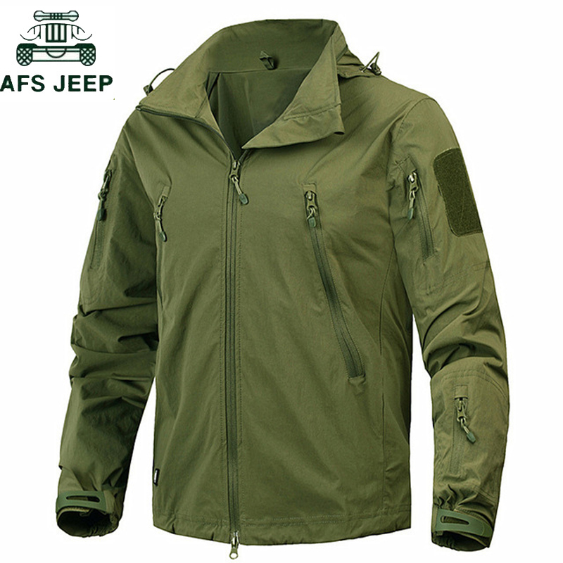 New 2018 Waterproof Windproof Military tactical jacket Outwear US Army Breathable Nylon Light Windbreaker Coat Jaqueta masculina