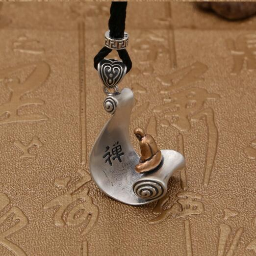 Handmade 925 Silver Buddha Statue Amulet Necklace Tibetan Buddha Pendant Necklace Sterling Good Luck Necklace pepe jeans повседневные брюки