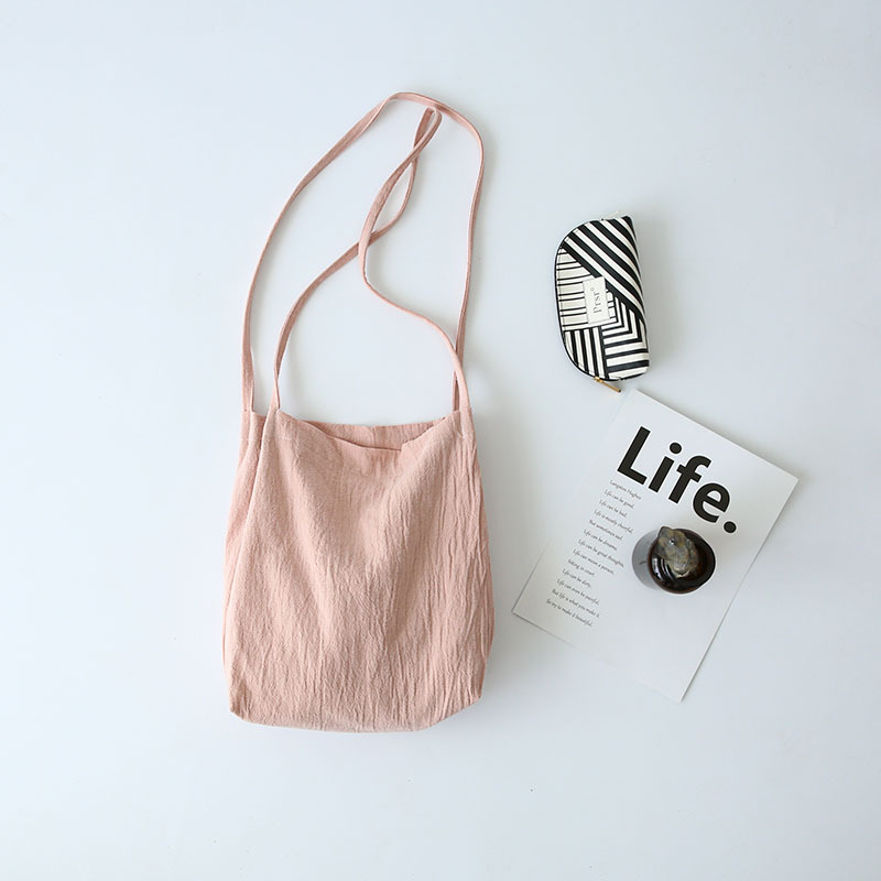 MIWIND Brand Korean Style New Washed Cotton and Linen Shoulder Bag Thin Strap Handbags TZY1004