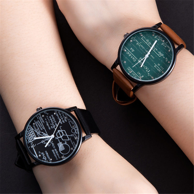 Top Luxury Famous Brand Unisex Wristwatch Creative Math Style Jewelry Watch For