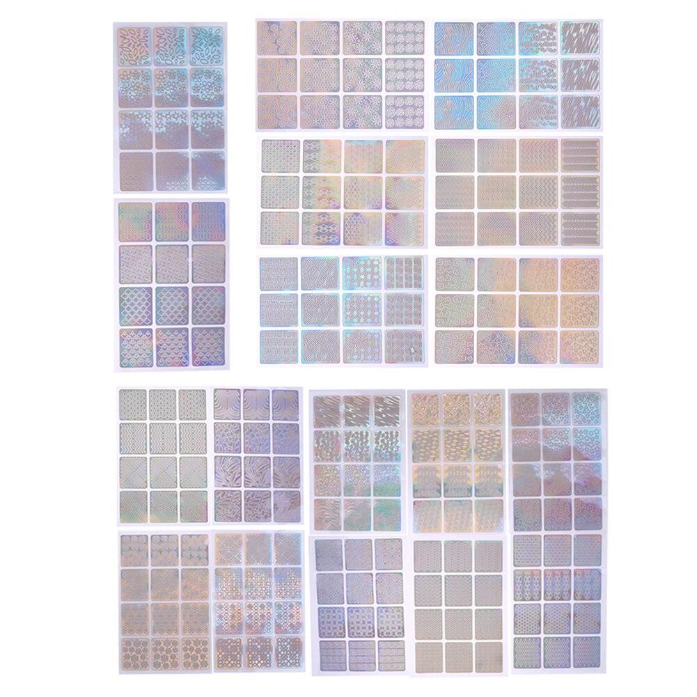 72 / 144pcs חלול מסמר אמנות מדבקות Waterproof - עיצוב ציפורניים