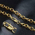 Europa und die Vereinigten Staaten 18 K 8mm männer gold halskette Europäischen und Amerikanischen heißer O-förmigen dicke kette länge