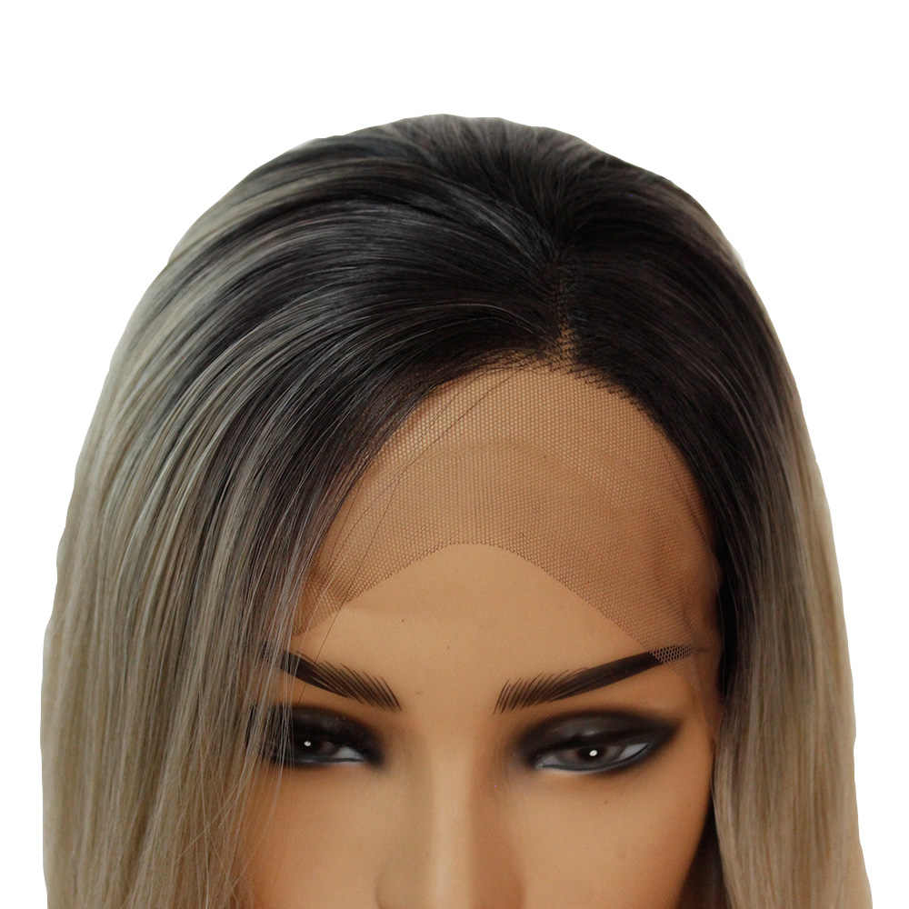 V'NICE Ombre розовые синтетические парики на кружеве для черных женщин натуральные бесклеевые прямые фронтальные волосы Косплей вечерние парики на каждый день