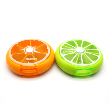 7 Days Weekly Rotating Pill Box Travel Pill Case Medicine Box Outdoor Orange Shape Splitters Box 2 Colors Pill Case Organizer 2016 new electronictimer digital 7 days pill reminder organizer pill box case timing splitters case health care medicine timer