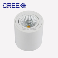 Surface Mounted Ceiling Downlight Cylinder 7W 9W CREE COB Led downlights Dimmable Ceiling Spot light For Home Room Adjustable