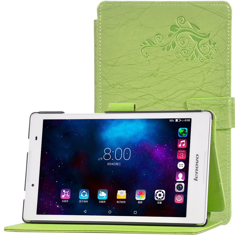 Fashion Printed patterns cover for lenovo A8-50 8inch tablet cover case +Protective film + pen
