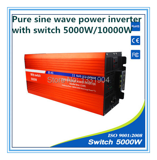 цена на 5000W pure sine wave inverter DC24V to AC220V inverter,solar power inverter with auto transfer switch,car inverter