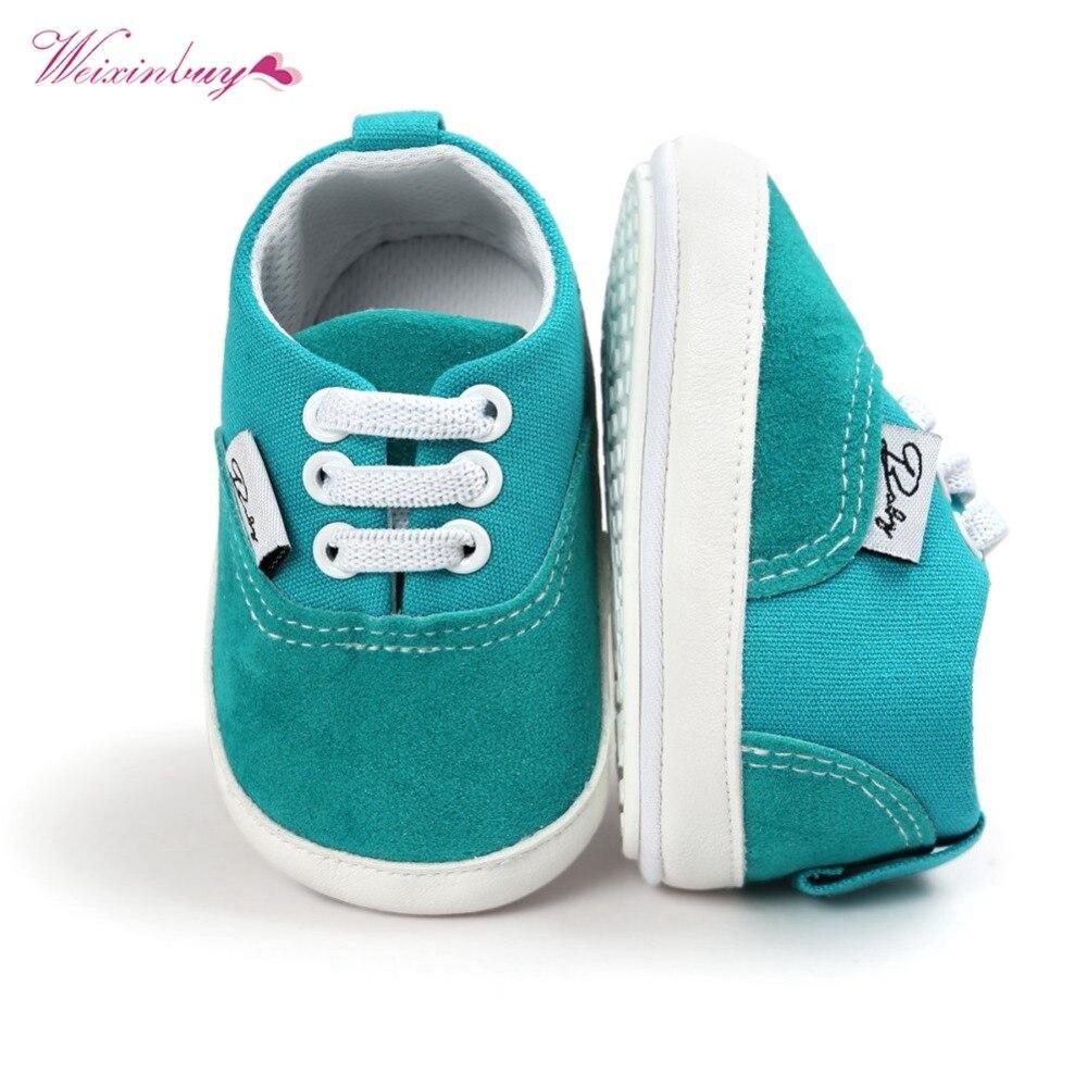 43014ef61 Bebé niño niña Zapatillas de deporte de fondo suave cuna Zapatos Niño  infantil suave Suela Anti-bebé tamaño de zapatos nacido 18 meses