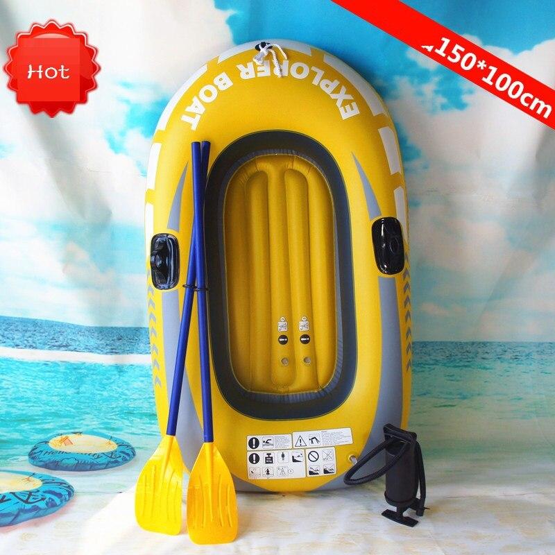 150 cm Gaint kayak gonflable Canoë 150 kg D'aviron Air Bateau Double Valve Dérive Plongée bateaux gonflables Bateau De Pêche