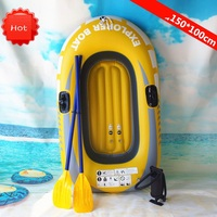 150cm Gaint Inflatable Kayak Canoe 150kg Rowing Air Boat Double Valve Drifting Diving Inflatable Boat Fishing Boat