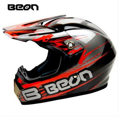Netherland BEON мотоциклетный шлем для мотокросса высшего качества рыцарь внедорожный мотоциклетный защитный шлем из АБС B-600 Размер M L XL - Цвет: Bright black red