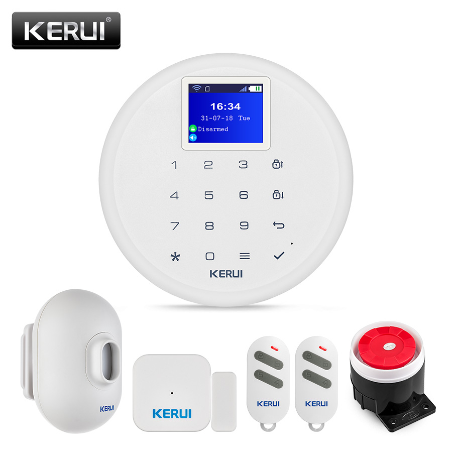 KERUI W17 WIFI GSM Burglar Alarm System Waterproof Outdoor PIR Motion Sensor Wireless Home Security Alarm Door Sensor