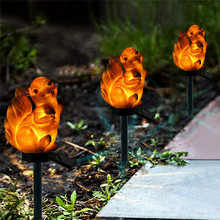 2019 Squirrel Solar Light With LED Garden Lawn Outdoor Waterproof Resin Animal Lamps For Home Dropship