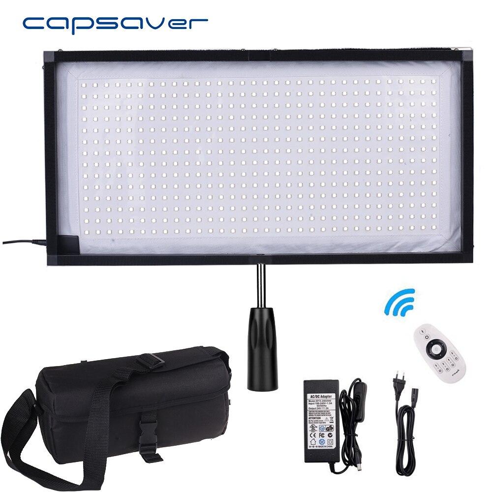 capsaver FL-3060 Portable LED Video Light Fill-in Photographic Lighting Flexible Fabric LED Panel Light Studio Light 5500K