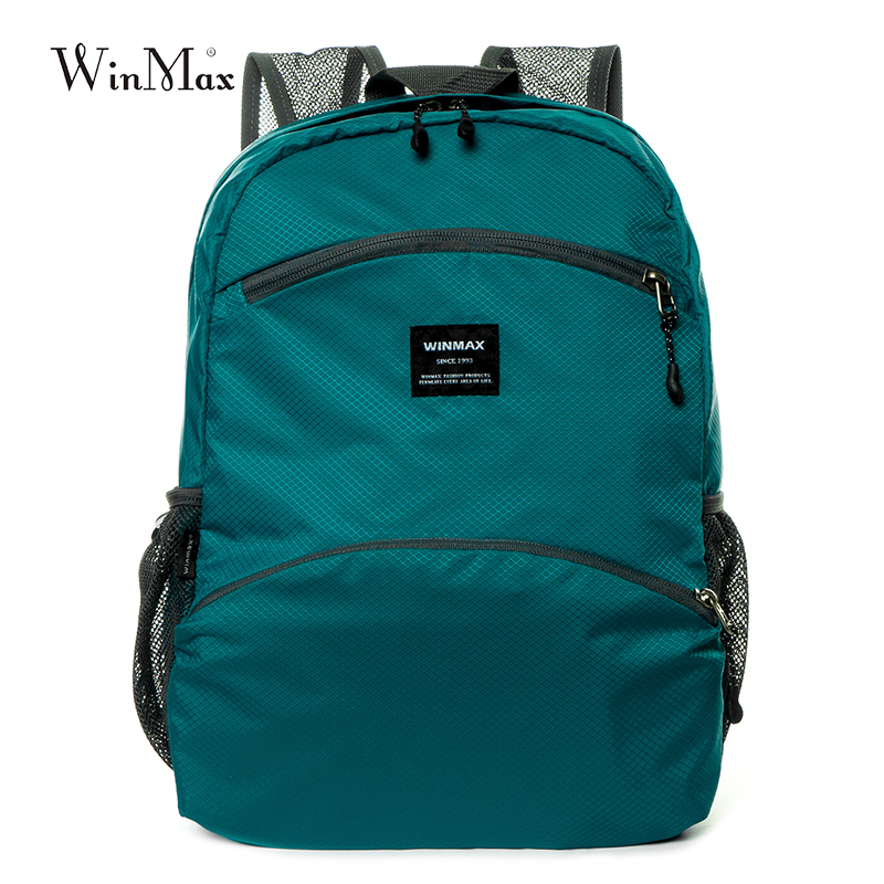 Fashion Waterproof Nylon Skin Travel Pack Breathable Large Light Weight Folding Hiking Backpack Easy Carry Men's Travel Bag