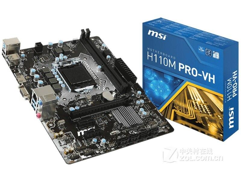 Nouvelle carte mère MSI H110M PRO-VH LGA 1151 DDR4 USB2.0 USB3.0 SATA3 DVI HDMI 32 GB H110 carte mère de bureau livraison gratuite