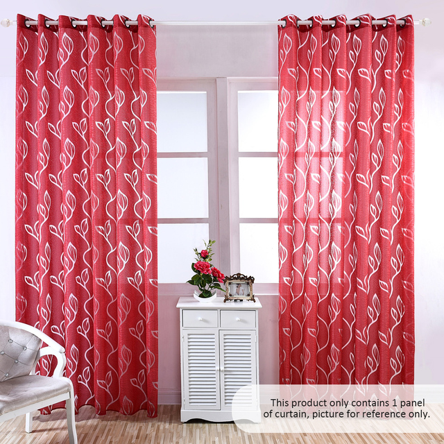 39 * 98 inches Curtains Polyester Semi Blackout Grommet Top Window ...