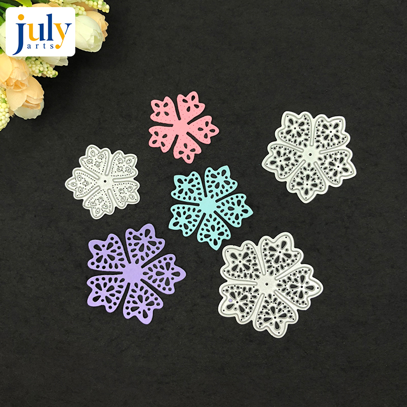 Julyarts Newest Hot Selling Metal Cutting Dies Scrapbooking for DIY Card Flowers Decor Making in Cutting Dies from Home Garden