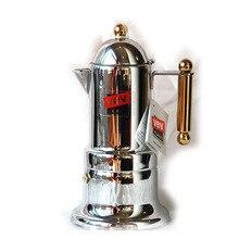 Freeshipping Klassische Espresso Italienische Moka Kaffeekanne Edelstahl Mokka Kaffeemaschine moka tasse