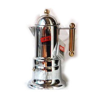 Image 1 - Freeshipping קלאסי איטלקי אספרסו מכונת קפה מוקה נירוסטה קנקן קפה מוקה מוקה כוס