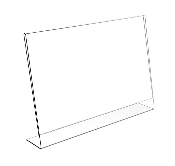 Free Shipping Horizontal A4 Acrylic Sign Holder Desk Label Name plates Holder Paper Card Table Holder Price Sign