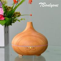 Tbonlyone 300Ml Timer Color Lights Wood Grain For Bedroom Air Humidifier Ultrasonic Aromatherapy Aroma Essential Oil